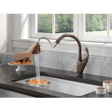 Venetian Bronze Single Handle Pull-Down Kitchen Faucet with Touch 2 O ® and ShieldSpray ® Technologies