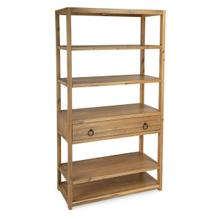 See Details - The tall bookcase is Transitional Modern with a natural wood finish and black metal hardware to enjoy in every room space. The natural look of the brushed wood veneers lend a beauty and elegance to the style. The functional 5 shelves offer fantastic storage space while the storage drawer is adorned with elegant hardware. The simplicity of this design allows storage to be prominently displayed while surrounded by color to enhance every room. The statement of natural color is all yours with this style and the coordinating style pieces.