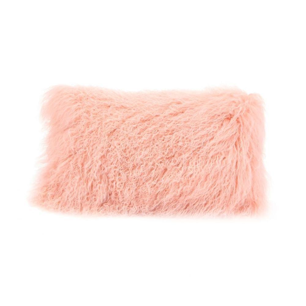 See Details - Lamb Fur Pillow Rect. Pink