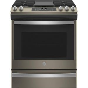 "GE®30"" Slide-In Front-Control Convection Gas Range with No Preheat Air Fry"