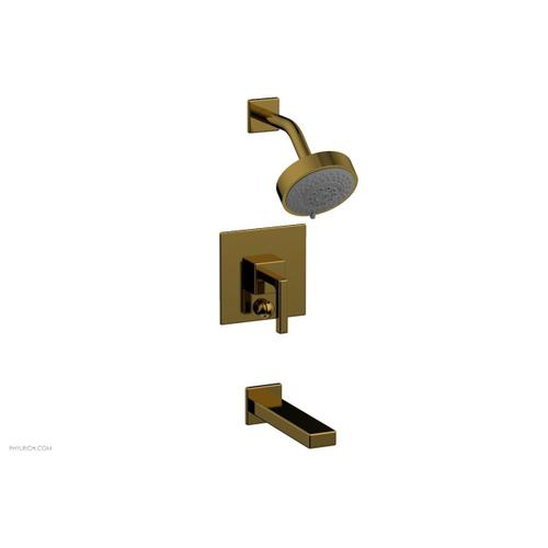 MIX Pressure Balance Tub and Shower Set - Lever Handle 290-27 - French Brass