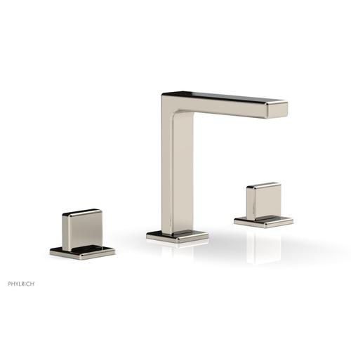 """MIX Widespread Faucet - Blade Handle 6-3/4"""" Height 290-01 - Polished Nickel"""