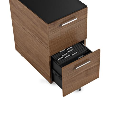 Mobile File Cabinet 6005 in Natural Walnut