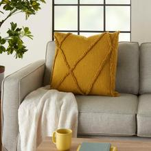 """See Details - Life Styles Sh018 Mustard 24"""" X 24"""" Throw Pillow"""