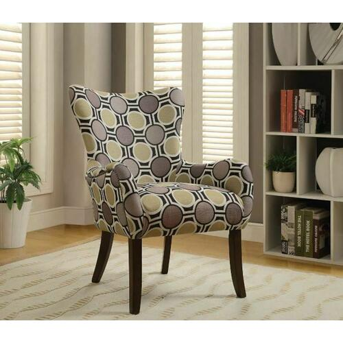 Acme Furniture Inc - ACME Gabir Accent Chair - 59402 - Fabric & Espresso