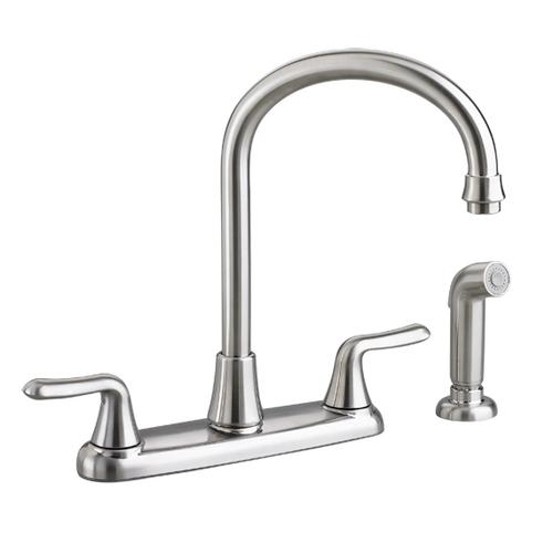 Colony Soft 2-Handle High-Arc Kitchen Faucet with Separate Side Spray  American Standard - Stainless Steel