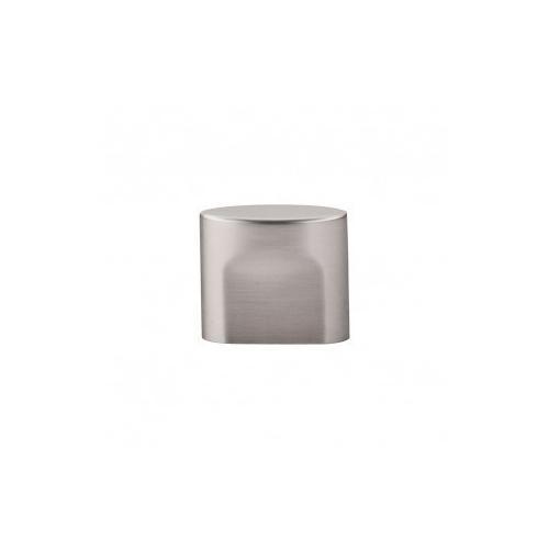 Oval Slot Knob 3/4 Inch (c-c) - Brushed Satin Nickel