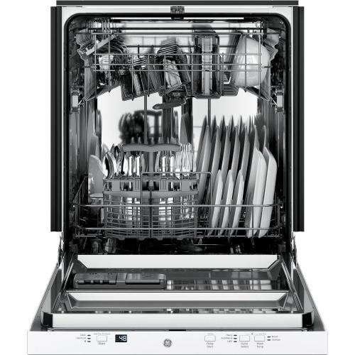 GE® ADA Compliant Stainless Steel Interior Dishwasher with Sanitize Cycle