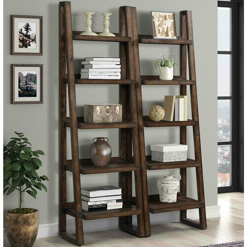 TEMPE - TOBACCO Pair of Etagere Bookcases