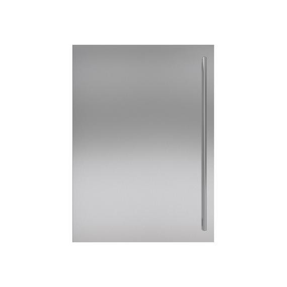 Sub-Zero - Stainless Steel Dual Flush Inset Door Panel with Tubular Handle
