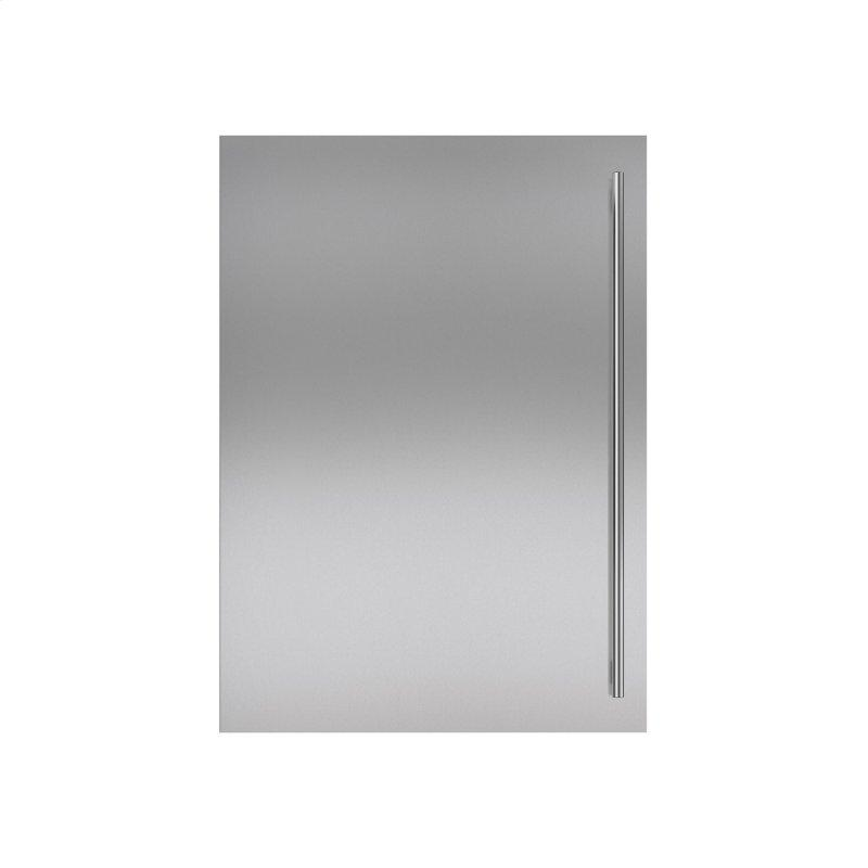 Stainless Steel Flush Inset Door Panel with Tubular Handle