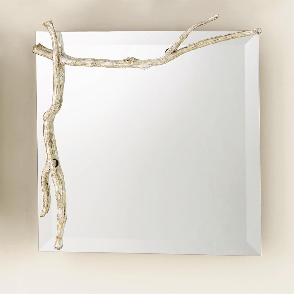 See Details - Twig Mirror-Silver Leaf-Sm