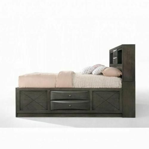 ACME Ireland Eastern King Bed w/Storage - 22696EK - Gray Oak