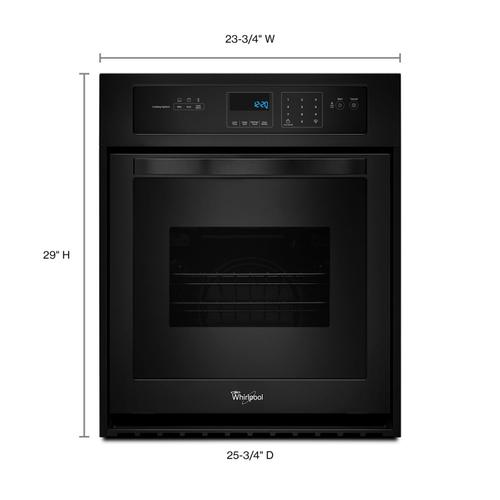 Whirlpool - 3.1 Cu. Ft. Single Wall Oven with High-Heat Self-Cleaning System Black