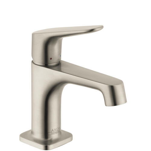 Brushed Nickel Single lever basin mixer 70 for hand washbasins with pop-up waste set