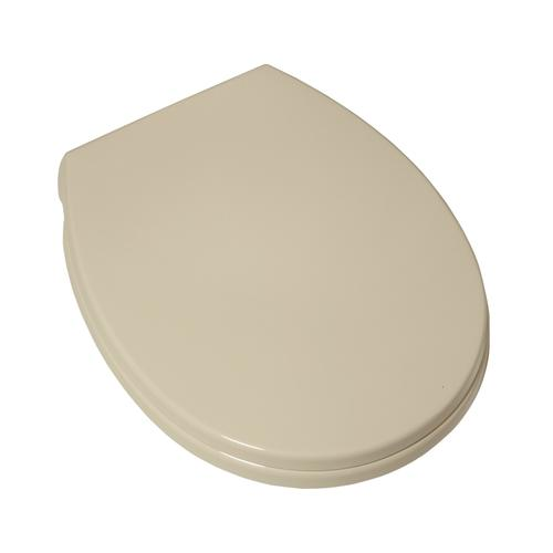 Value Pack of Five: Luxury Toilet Round Front Toilet Seats with Slow-Close and Push Button Lift Off - Bone