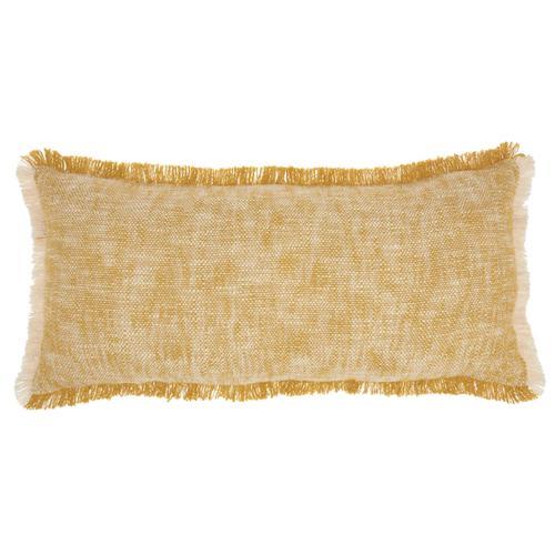 "Life Styles Sh020 Mustard 14"" X 30"" Throw Pillow"