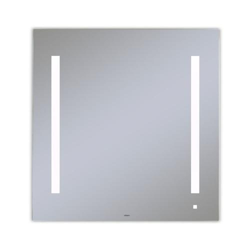 """Aio 29-1/8"""" X 29-7/8"""" X 1-1/2"""" Lighted Mirror With Lum Lighting At 4000 Kelvin Temperature (cool Light), Dimmable, Usb Charging Ports and Om Audio"""