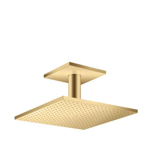 Brushed Gold Optic Overhead shower 300/300 2jet with ceiling connection
