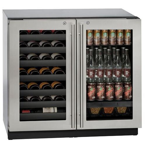 "36"" Beverage Center With Stainless Frame Finish (115 V/60 Hz Volts /60 Hz Hz)"