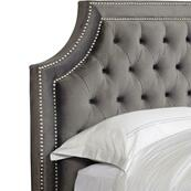 JASMINE - FLANNEL King Headboard 6/6 (Grey)