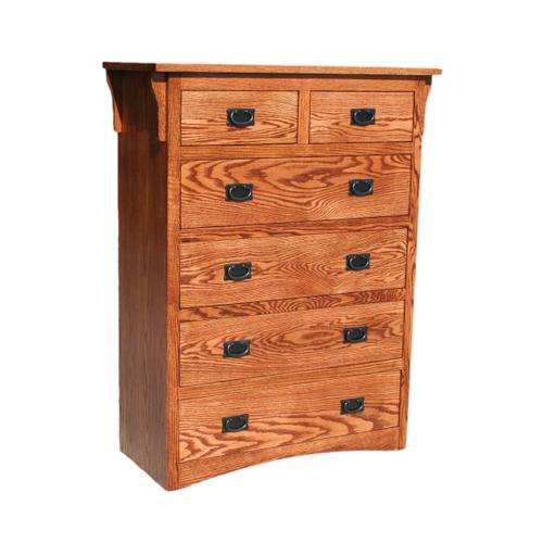 O-M451 Mission Oak 6-Drawer Gentleman's Chest
