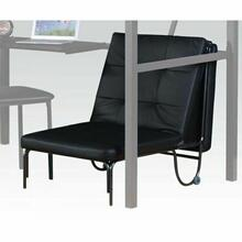 ACME Senon Adjustable Chair (Futon) - 37276 - Silver & Black