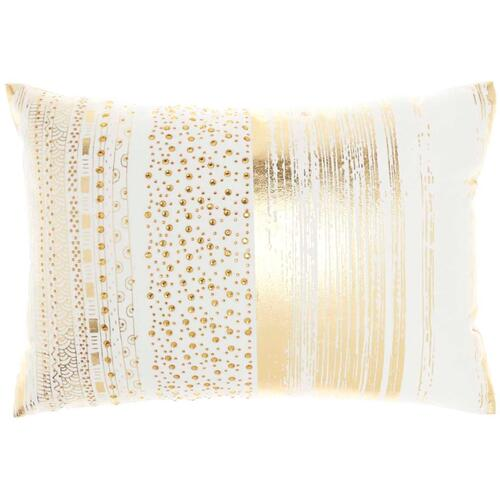 "Luminescence L0293 Gold 14"" X 20"" Throw Pillow"