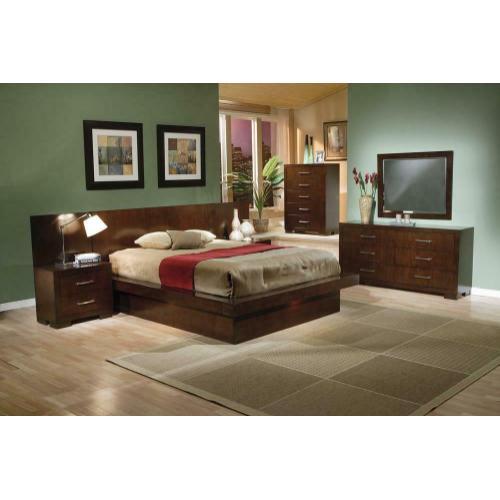 Product Image - Jessica Dark Cappuccino Queen Platform Bed