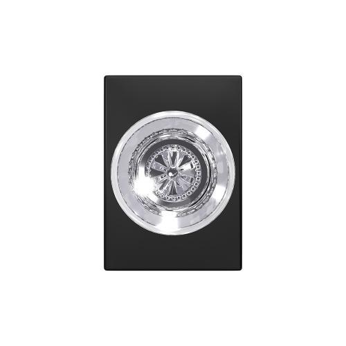 Custom Hobson Non-Turning Glass Knob with Century Trim - Matte Black