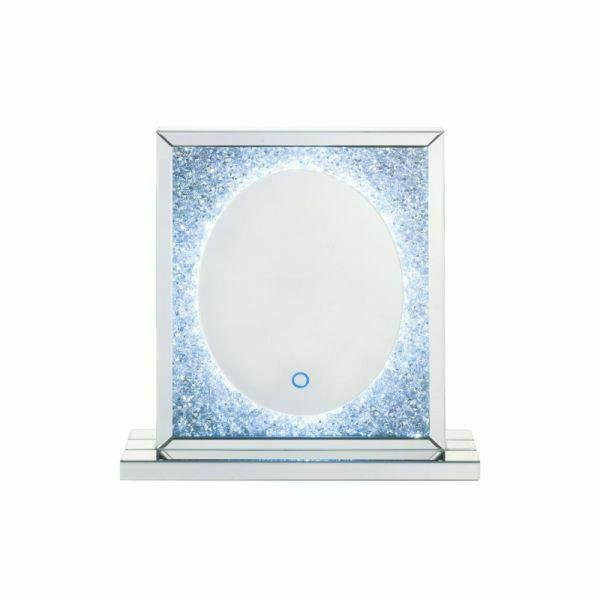 ACME Noralie Wall Decor (LED) - 97707 - Glam - LED Light, Mirror, Glass, MDF, Faux Diamonds (Acrylic) - Mirrored and Faux Diamonds