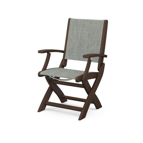 Coastal Folding Chair in Mahogany / Birch Sling