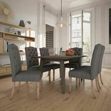 See Details - Ashland/Lucian 7pc Dining Set, Grey/Grey