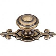 Canterbury Knob 1 1/4 Inch w/Backplate - German Bronze