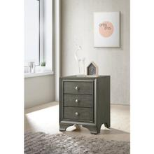 GRAY NIGHTSTAND W/THERE DRWS