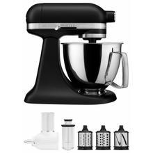 View Product - Exclusive Artisan® Series Stand Mixer & Fresh Prep Attachment Set - Black Matte
