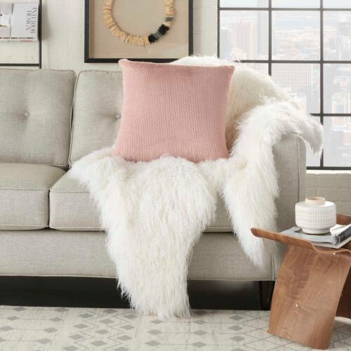 "Fur Vv021 Blush 22"" X 22"" Throw Pillow"