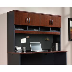 SauderCredenza Desk Hutch with Storage