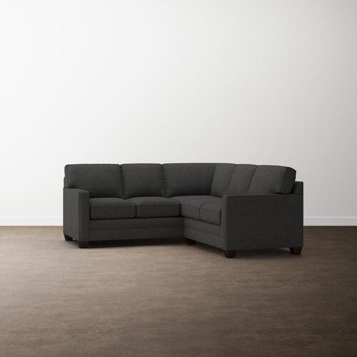 Charcoal Alexander Track Arm Small L Sectional