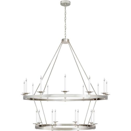 Visual Comfort - Chapman & Myers Launceton 20 Light 53 inch Polished Nickel Two Tiered Chandelier Ceiling Light, Grande