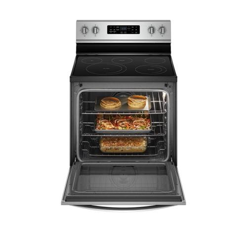 Whirlpool - 6.4 cu. ft. Freestanding Electric Range with Frozen Bake™ Technology