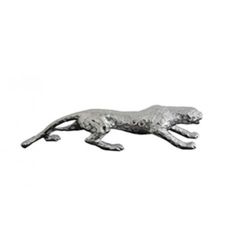 """Gallery - Modrest Jaguar Modern Silver Sculpture 24"""""""