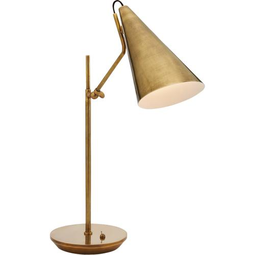 AERIN Clemente 21 inch 60 watt Hand-Rubbed Antique Brass Table Lamp Portable Light