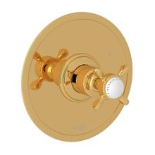 Edwardian Pressure Balance Trim without Diverter - English Gold with Cross Handle