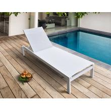View Product - Renava Kayak - Modern White Outdoor Chaise Lounge