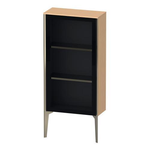 Duravit - Semi-tall Cabinet With Mirror Door Floorstanding, Brushed Oak (real Wood Veneer)