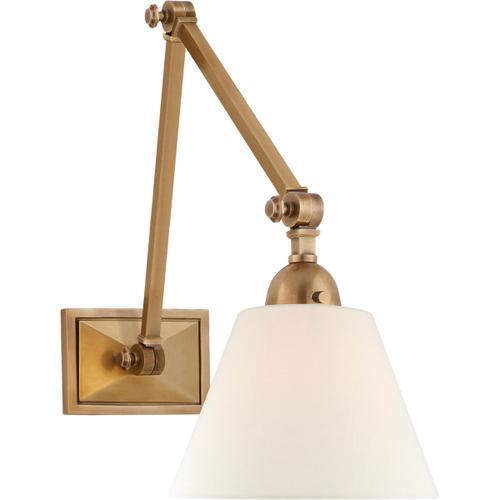 Visual Comfort - Alexa Hampton Jane 30 inch 40.00 watt Hand-Rubbed Antique Brass Double Library Wall Light