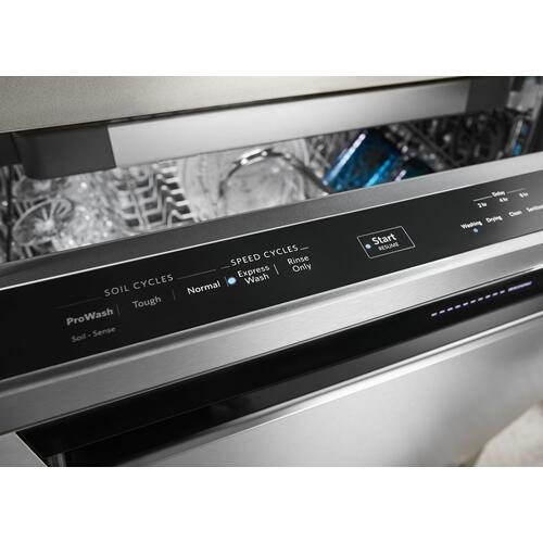 Gallery - 39 DBA Dishwasher with Fan-Enabled ProDry System and PrintShield Finish, Pocket Handle Stainless Steel with PrintShield™ Finish