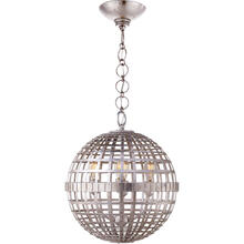 View Product - AERIN Mill 4 Light 16 inch Burnished Silver Leaf Globe Lantern Ceiling Light, Small