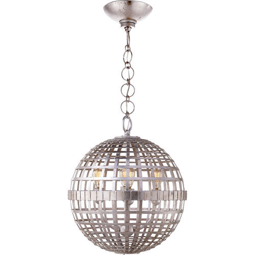 AERIN Mill 4 Light 16 inch Burnished Silver Leaf Globe Lantern Ceiling Light, Small